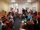 Mikuláš, čert a anděl v mateřském centru Cvrček v Plzni